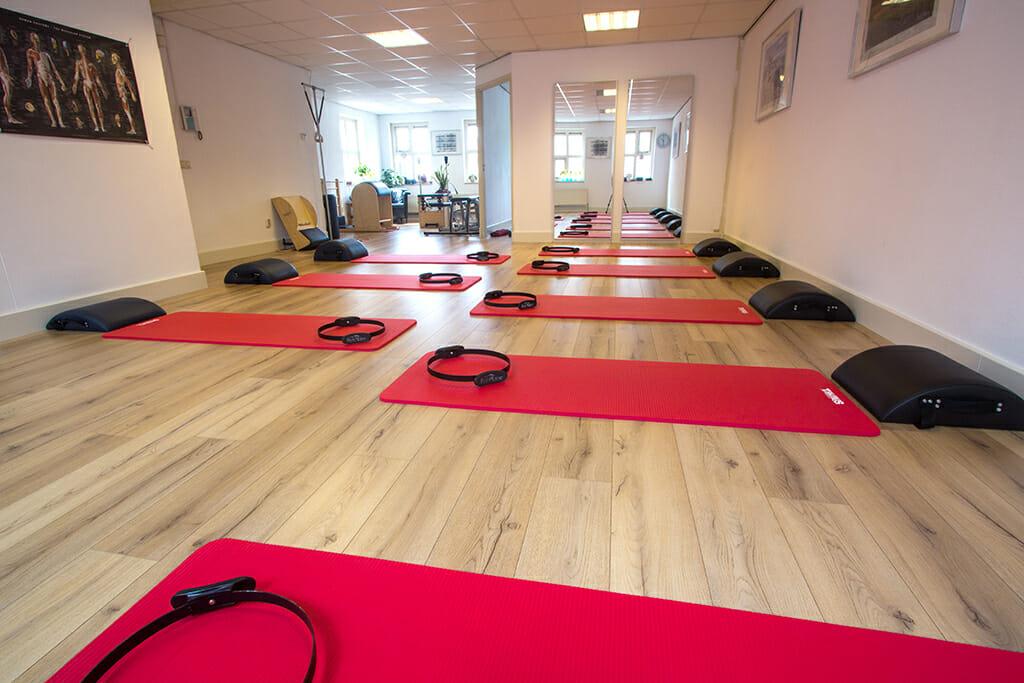 De ruimte voor de groepslessen bij Pilates Studio van Sonsbeek