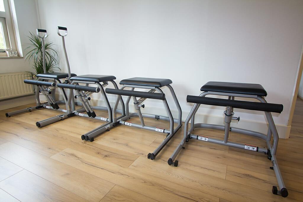 MVe-Chairs voor de mini-groepsles bij Pilates van Sonsbeek