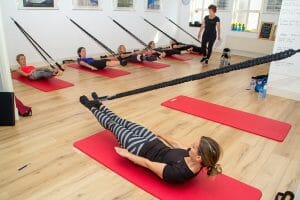 Workshop met Pilatesstick met trainers en particulieren