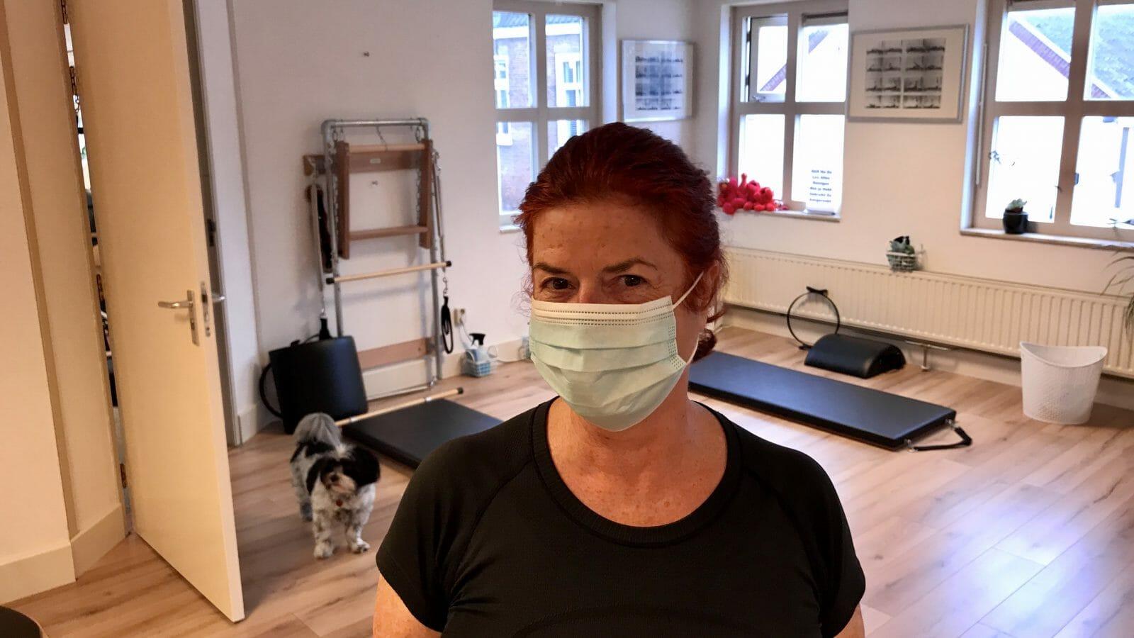 Mondkapjes bij Pilates Studio van Sonsbeek