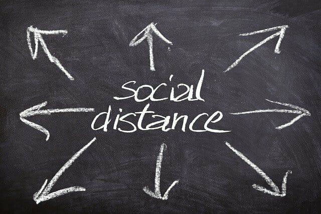 Anderhalve meter afstand of Social distancing