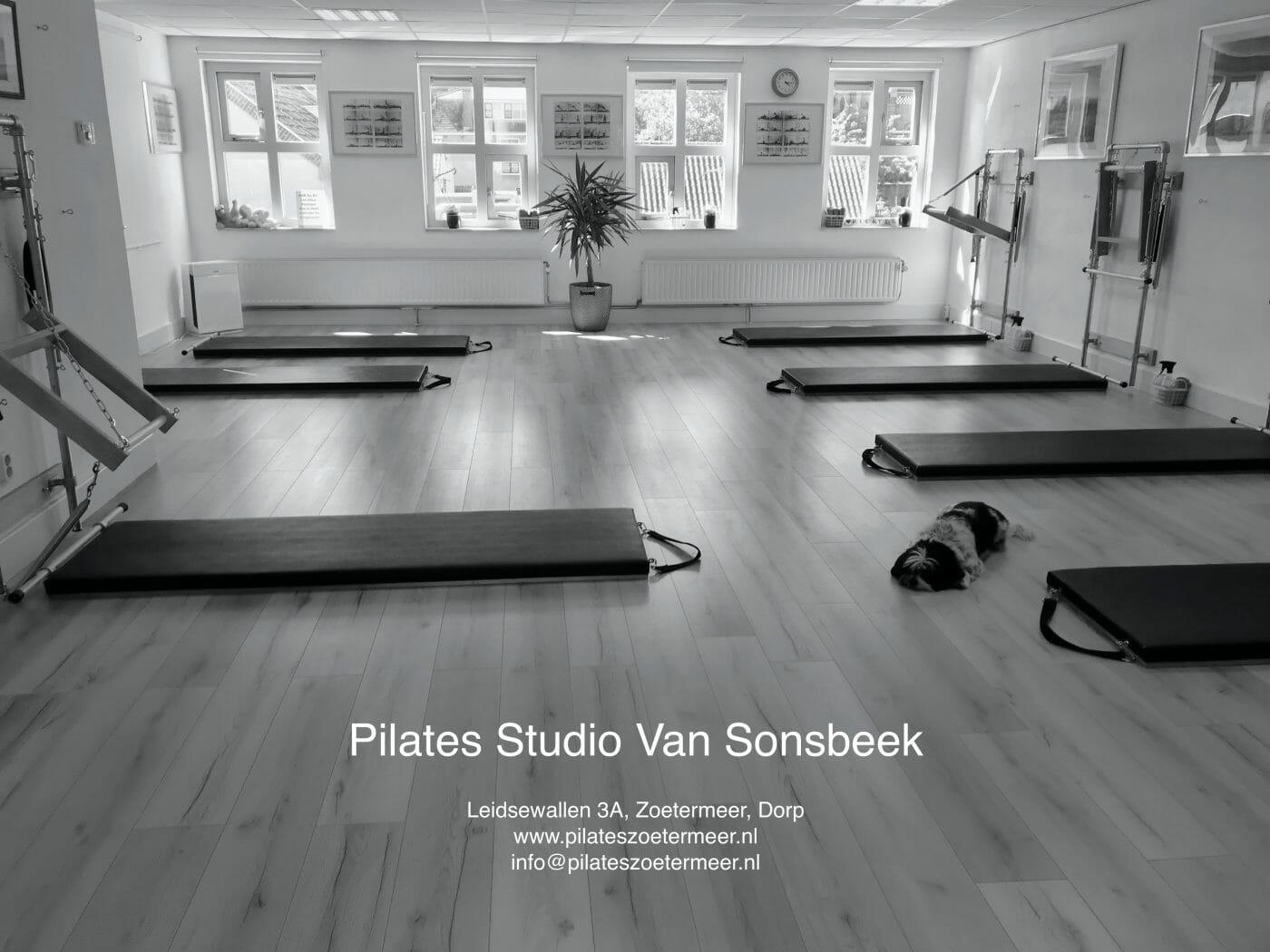 Groepszaal met High Mats en Wall Towers van Pilates Studio Van Sonsbeek