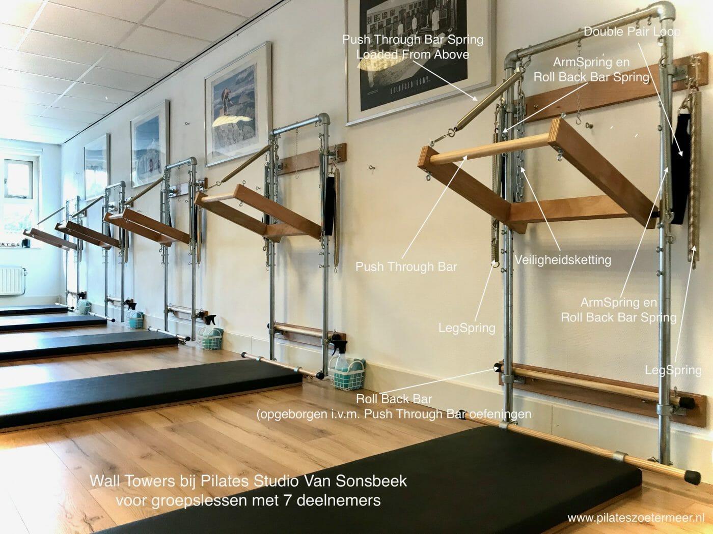 Groepslessen Wall Tower bij Pilates Studio Van Sonsbeek
