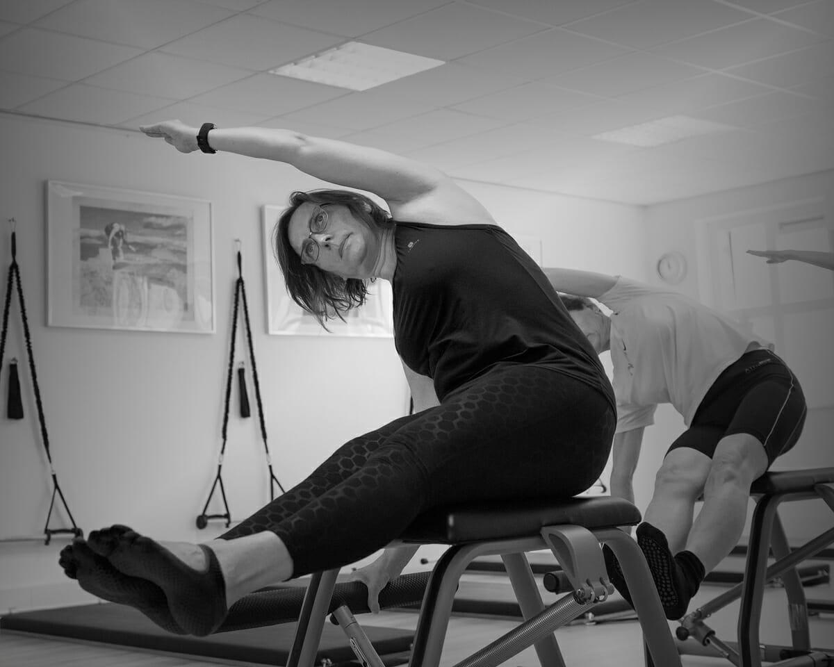 Groepsles Chair bij Pilates Studio Van Sonsbeek