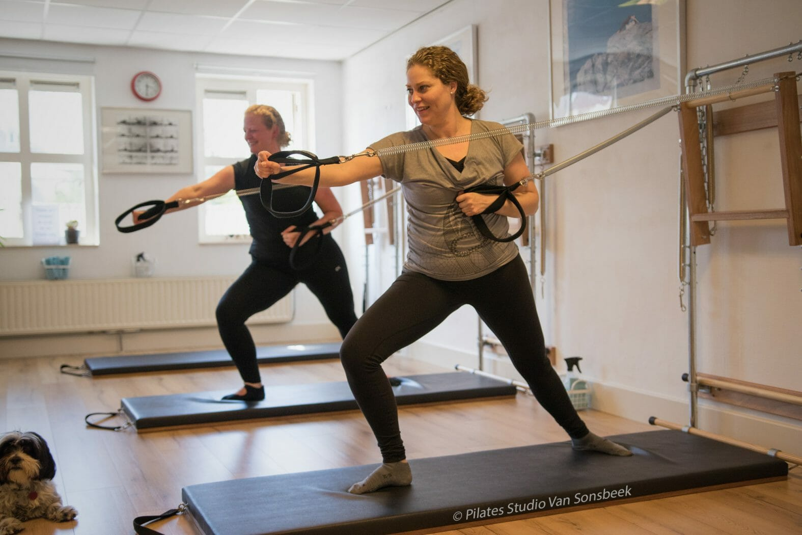Fencing met de Arm Springs van de Wall Tower bij Pilates Studio van Sonsbeek