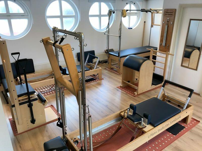 De apparatenruimte (Pilates Studio Van Sonsbeek)